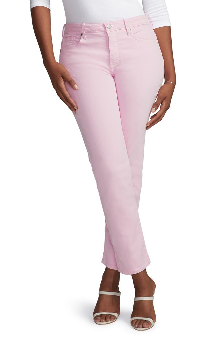 CURVES 360 BY NYDJ Slim Straight Leg Ankle Jeans, Main, color, PINK LADY