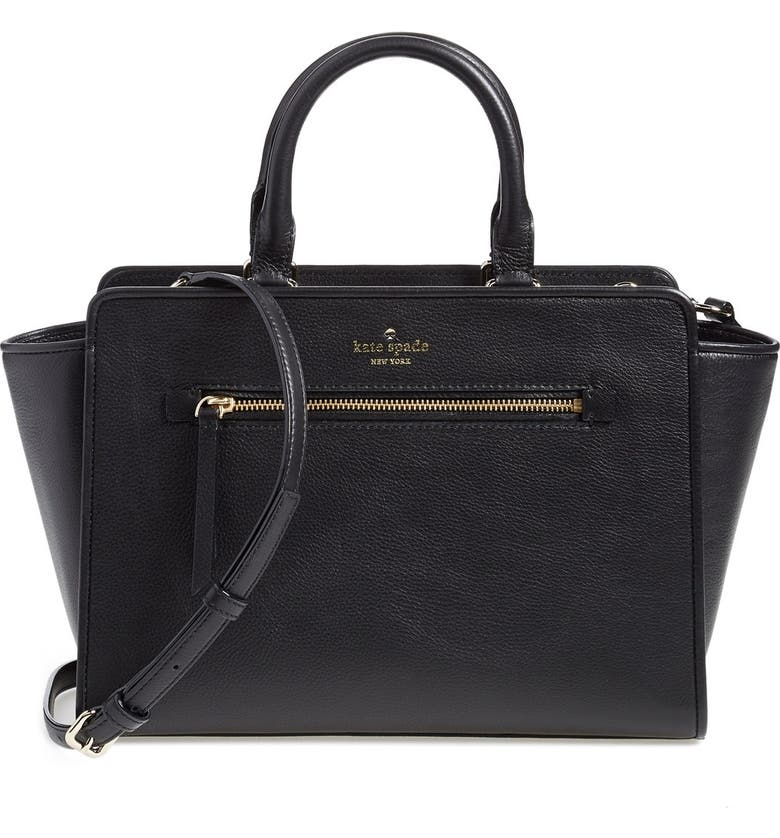 KATE SPADE NEW YORK 'north court - coralline' pebbled leather satchel, Main, color, 001
