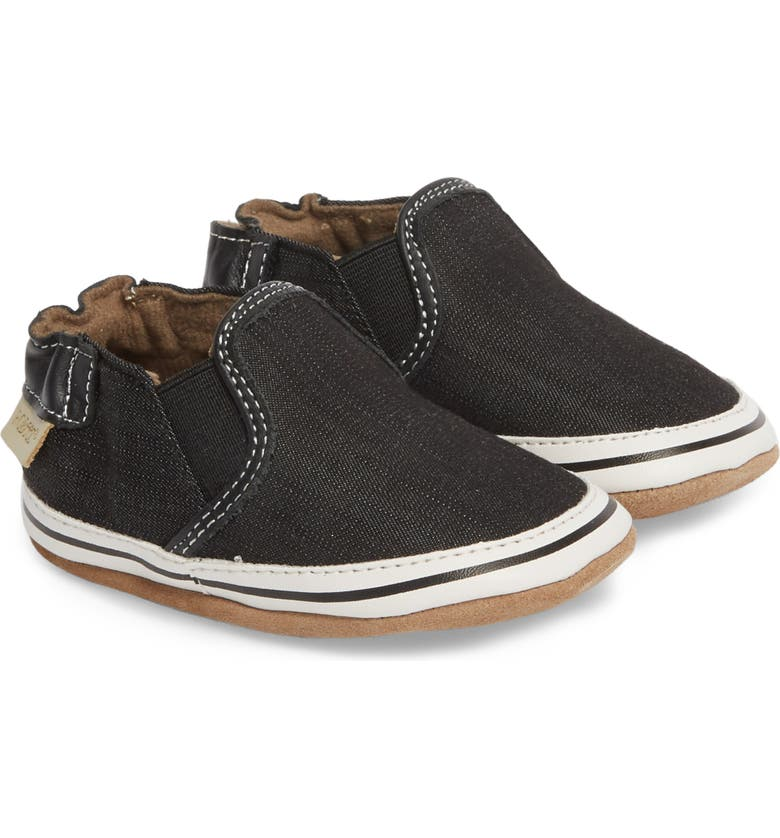 ROBEEZ<SUP>®</SUP> Liam Slip-On Crib Sneaker, Main, color, 001