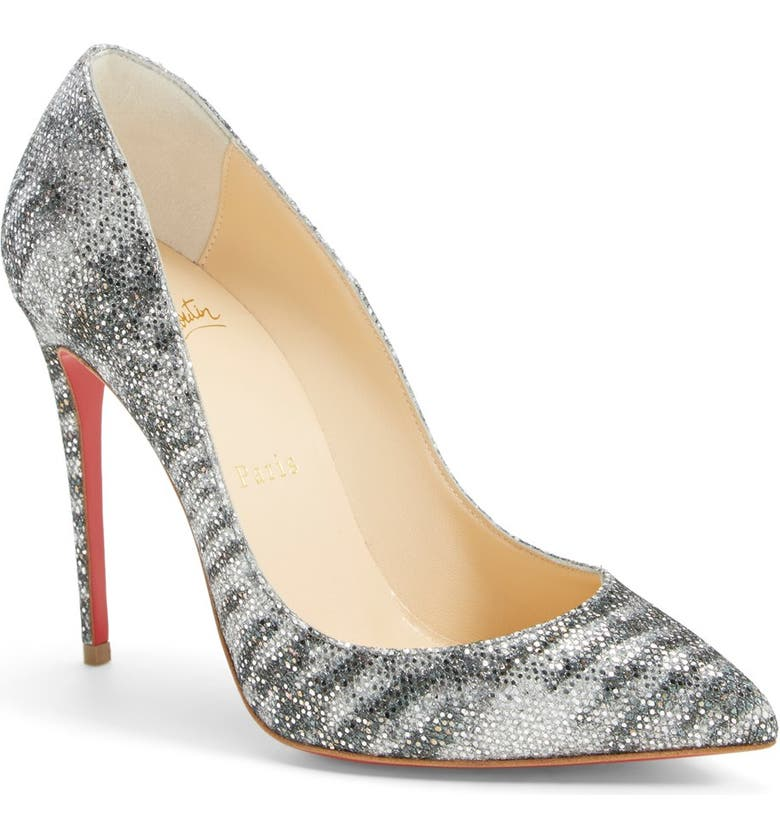 CHRISTIAN LOUBOUTIN 'Pigalle Follies' Pointy Toe Pump, Main, color, 040