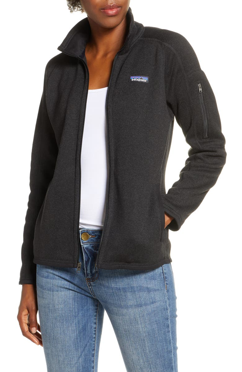 PATAGONIA Better Sweater<sup>®</sup> Jacket, Main, color, BLACK