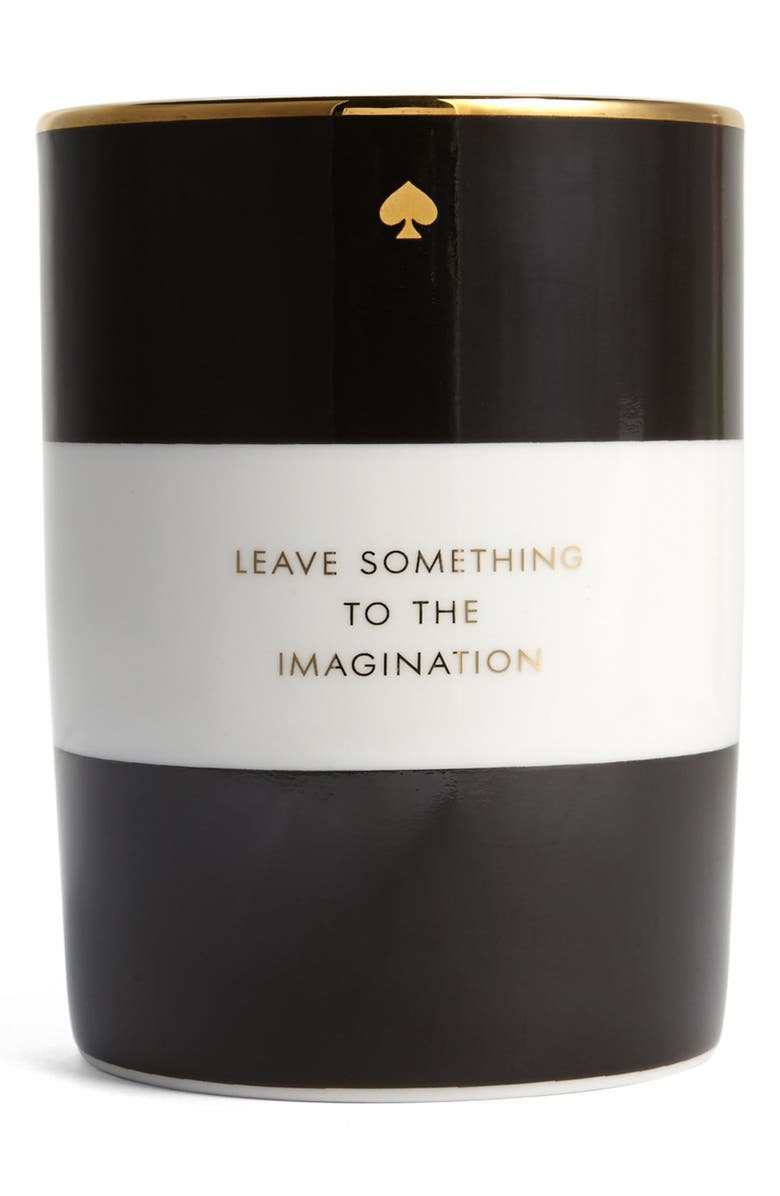 KATE SPADE NEW YORK 'imagination' scented candle, Main, color, Black
