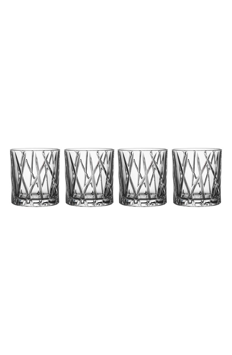 ORREFORS City Set of 4 Crystal Old Fashioned Glasses, Main, color, 100