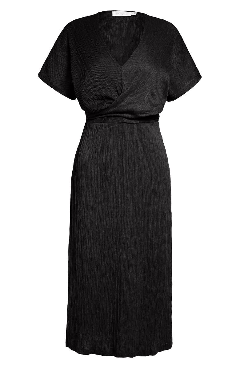 ALL IN FAVOR Phoebe V-Neck Midi Dress, Main, color, BLACK