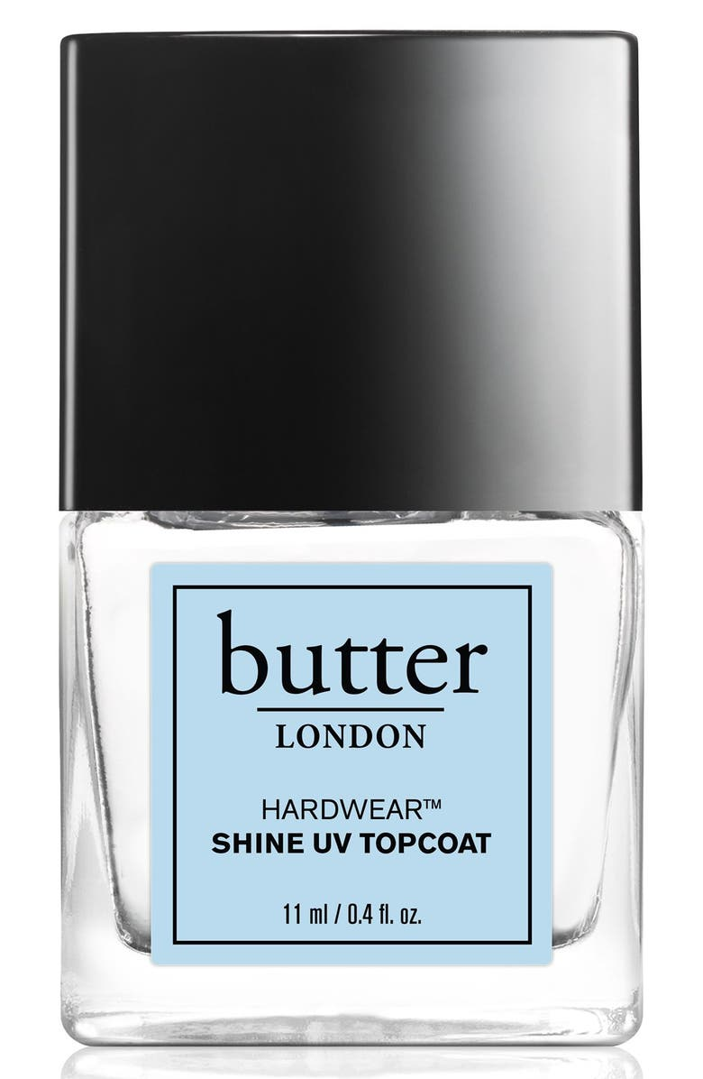 BUTTER LONDON 'Hardwear<sup>™</sup>' Shine UV Topcoat, Main, color, 000