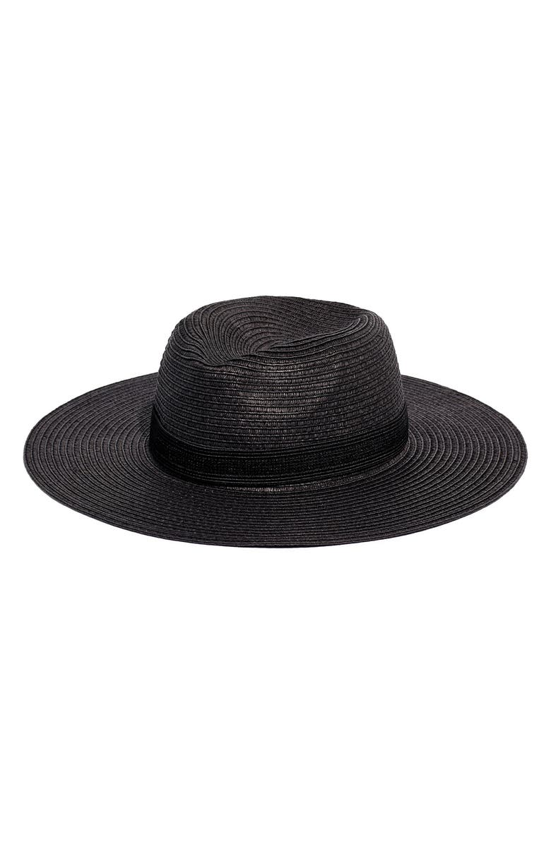 MADEWELL Mesa Packable Straw Hat, Main, color, 001