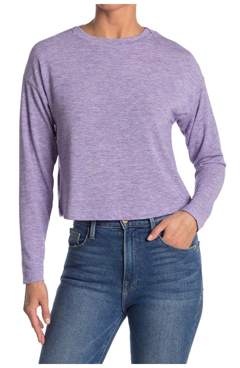 CODEXMODE Soft Knit Long Sleeve Top, Main, color, LILAC