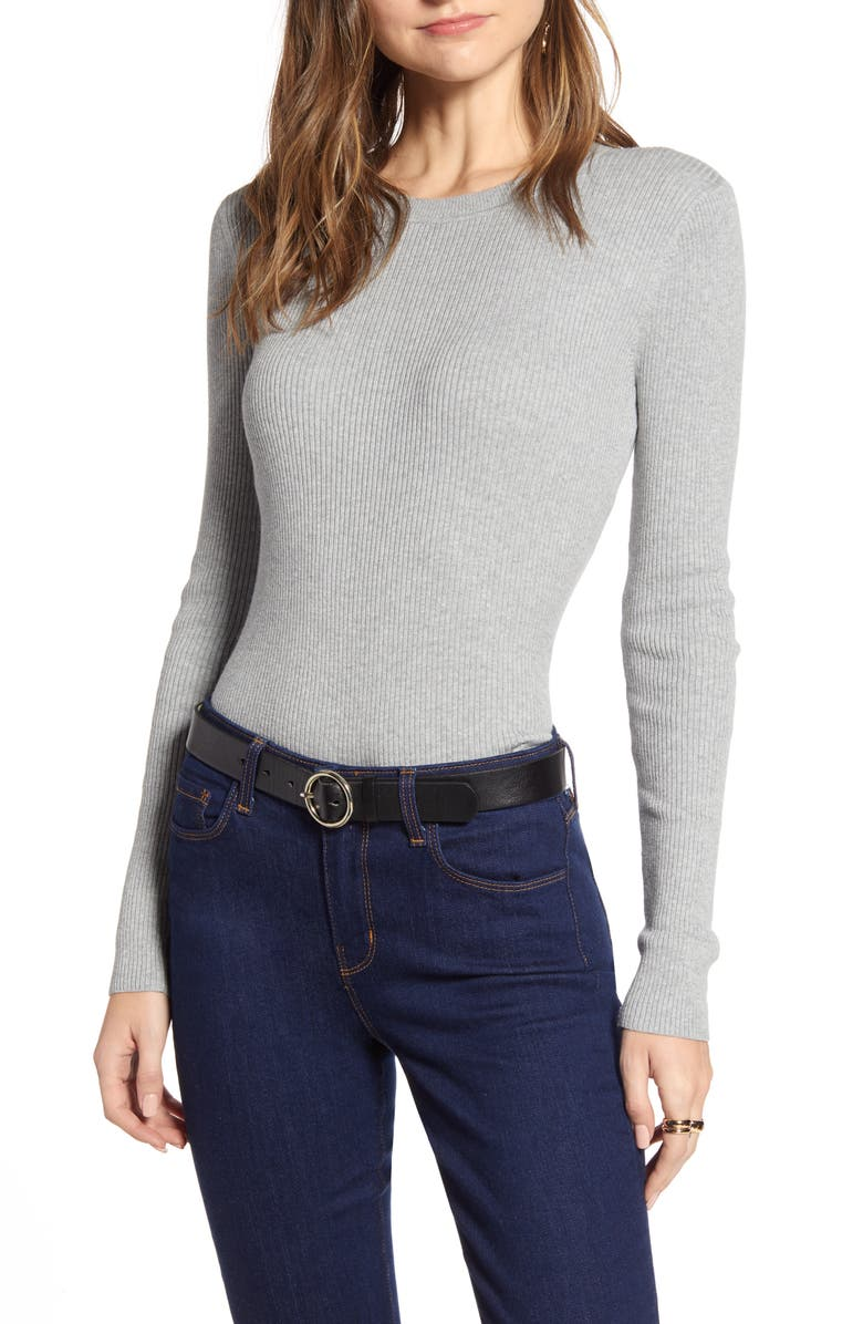 HALOGEN<SUP>®</SUP> Ribbed Sweater, Main, color, 030