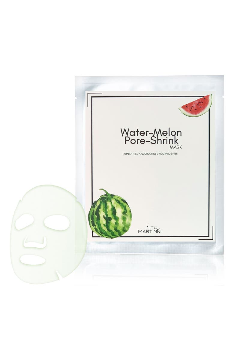 MARTINNI Water Melon Pore Shrink Mask - Pack of 5, Main, color, NO COLOR