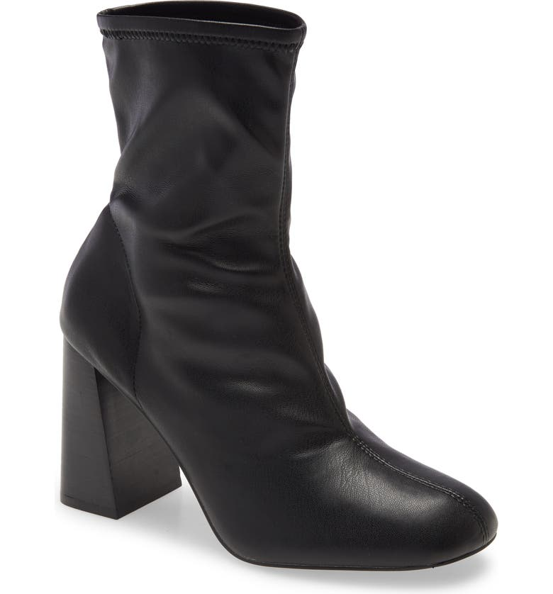 TOPSHOP Brody Stretch Bootie, Main, color, 001