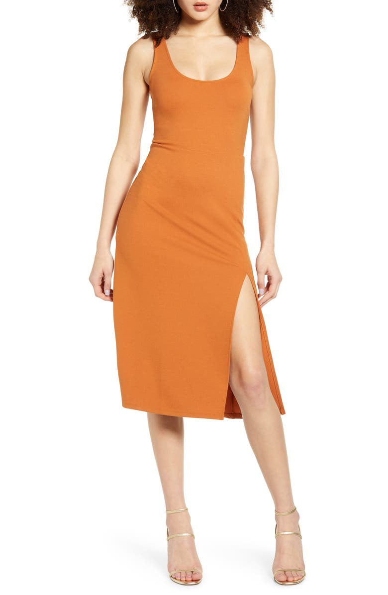 LEITH Scoop Neck Midi Dress, Main, color, 210
