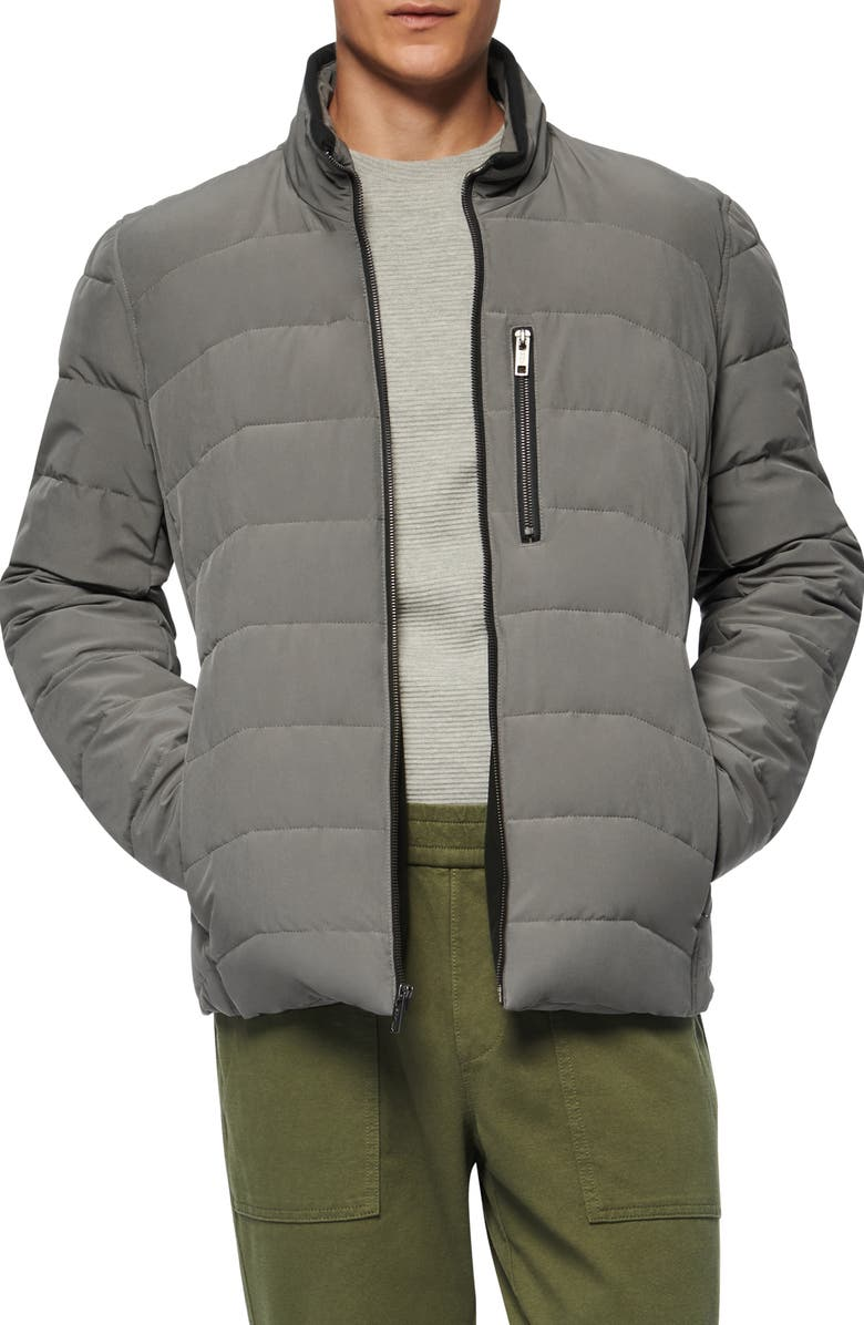 MARC NEW YORK Carlisle Water Resistant Quilted Puffer Jacket, Main, color, GUNMETAL