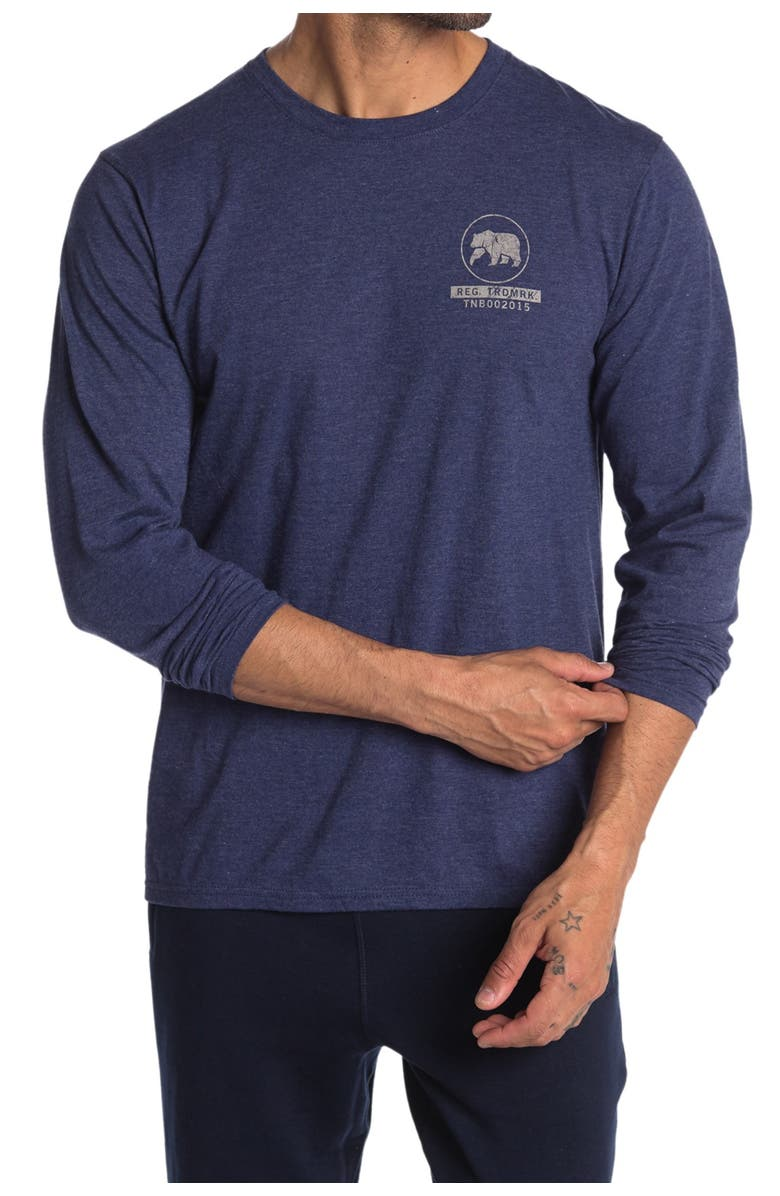 THE NORMAL BRAND Long Sleeve Shirt, Main, color, BLUE