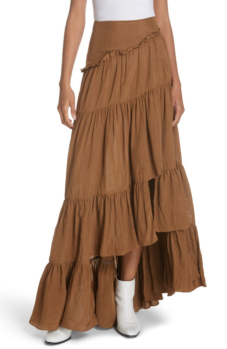 3.1 PHILLIP LIM Tiered Ruffle Maxi Skirt, Main, color, 220