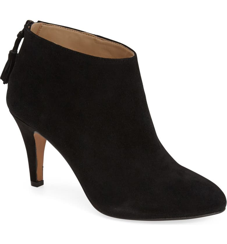 SOLE SOCIETY 'Aiden' Pointy Toe Bootie (Women), Main, color, 001