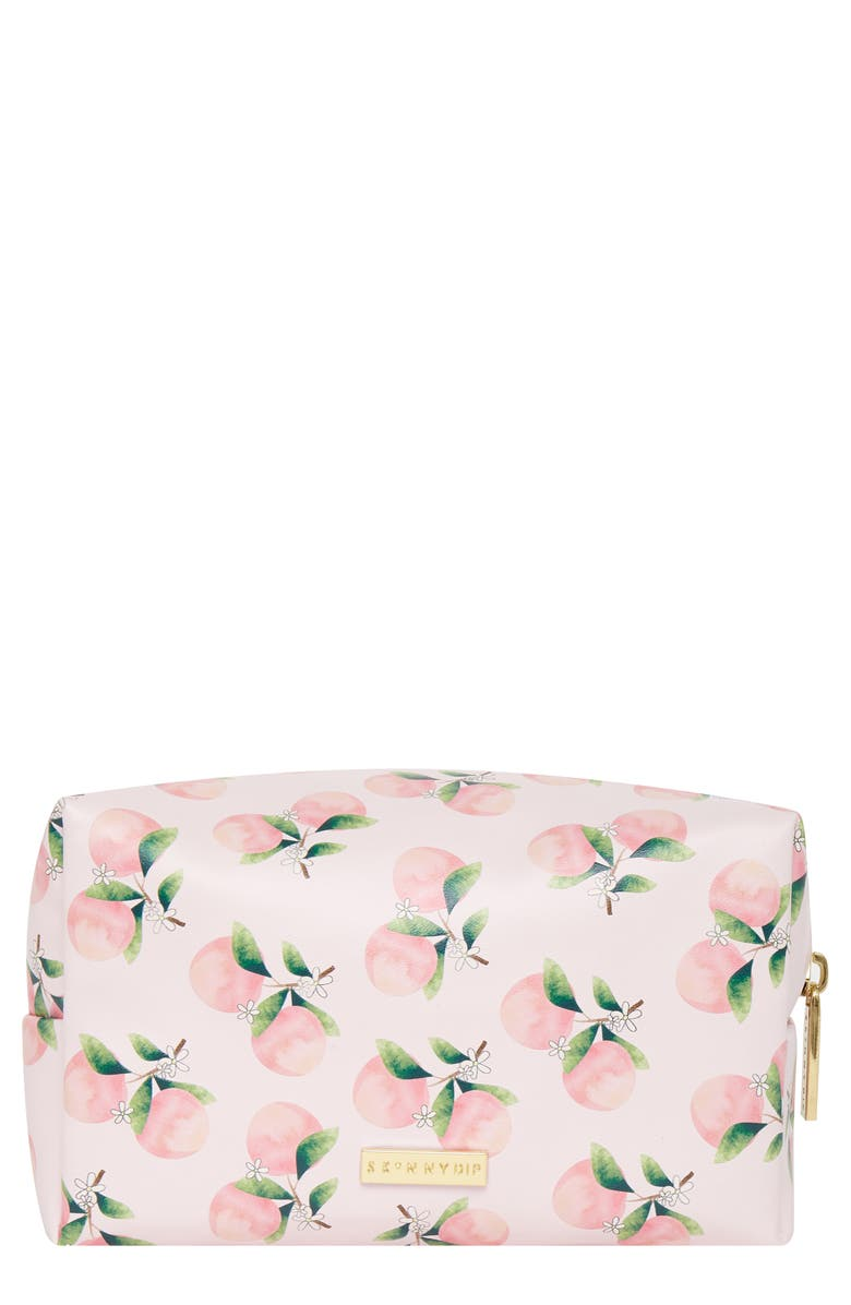 SKINNYDIP Peach Tree Makeup Bag, Main, color, 000
