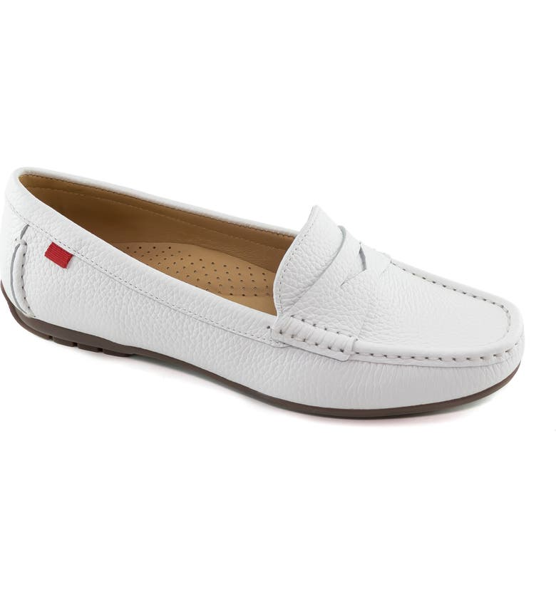 MARC JOSEPH NEW YORK Carrol Street Penny Loafer, Main, color, WHITE GRAINY TUMBLED LEATHER