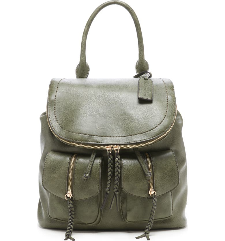SOLE SOCIETY Faux Leather Backpack, Main, color, 300