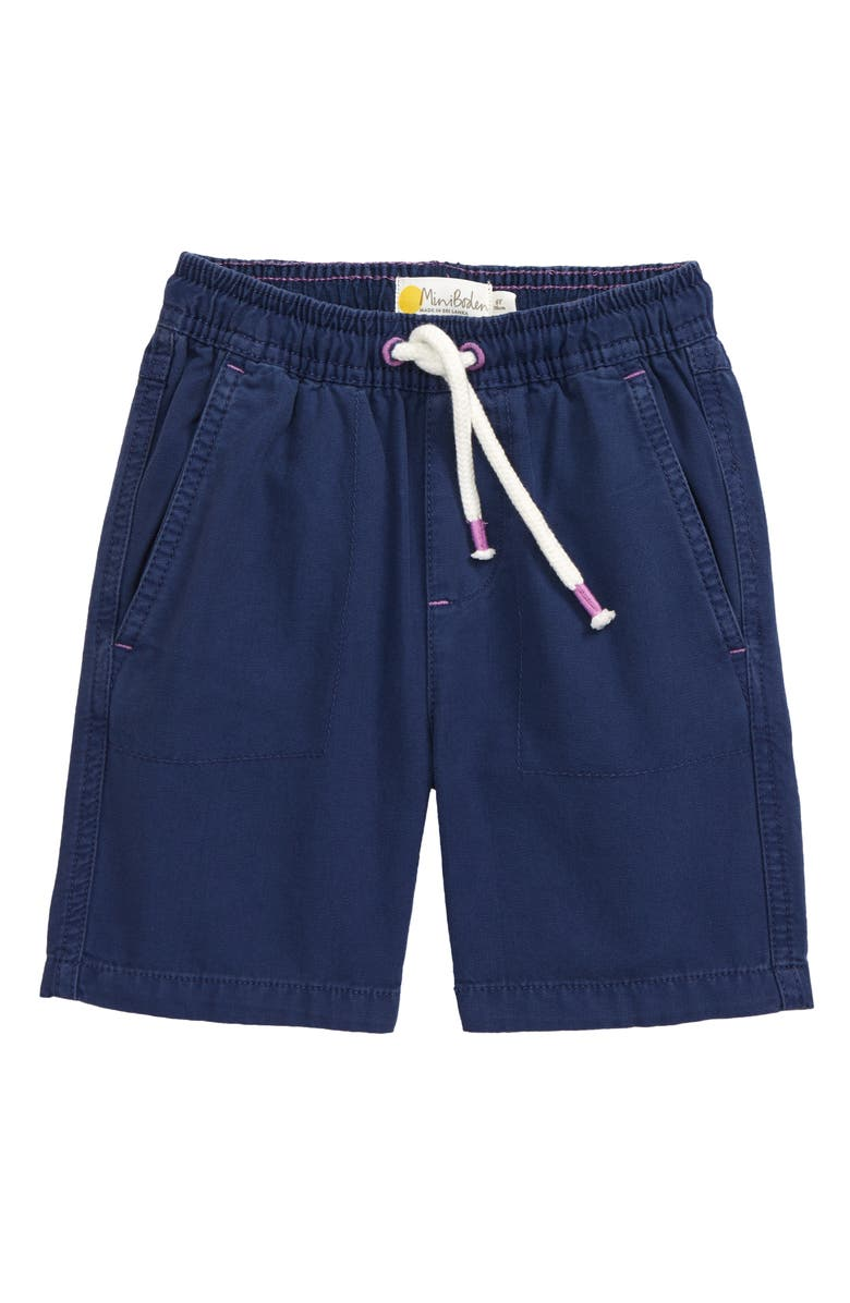 MINI BODEN Kids' Pull-On Shorts, Main, color, COLLEGE NAVY