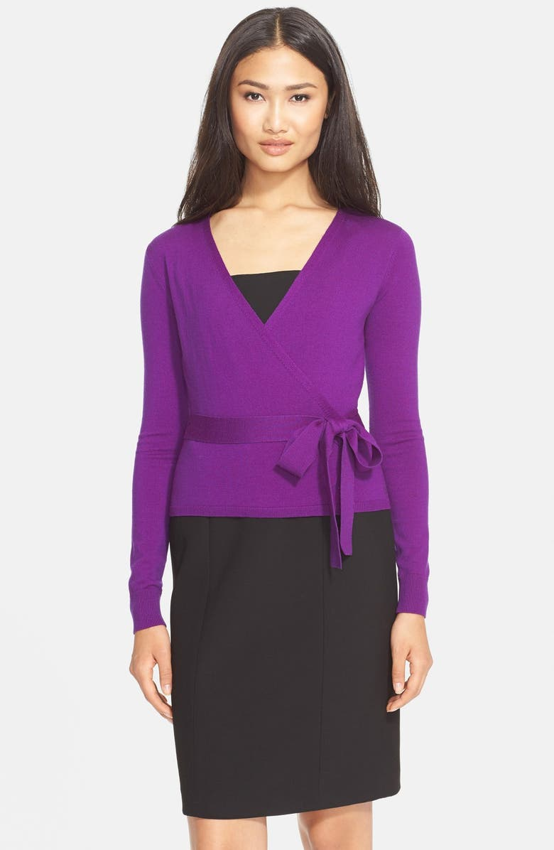 DIANE VON FURSTENBERG 'Ballerina' Wrap Sweater, Main, color, 516