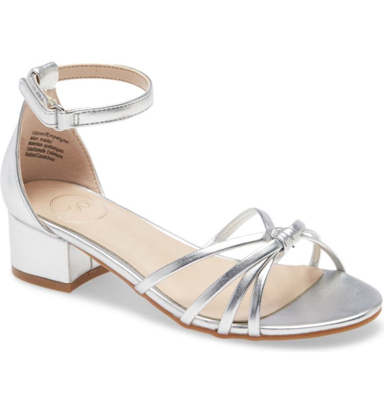 1901 Strappy Sandal, Main, color, SILVER FAUX LEATHER
