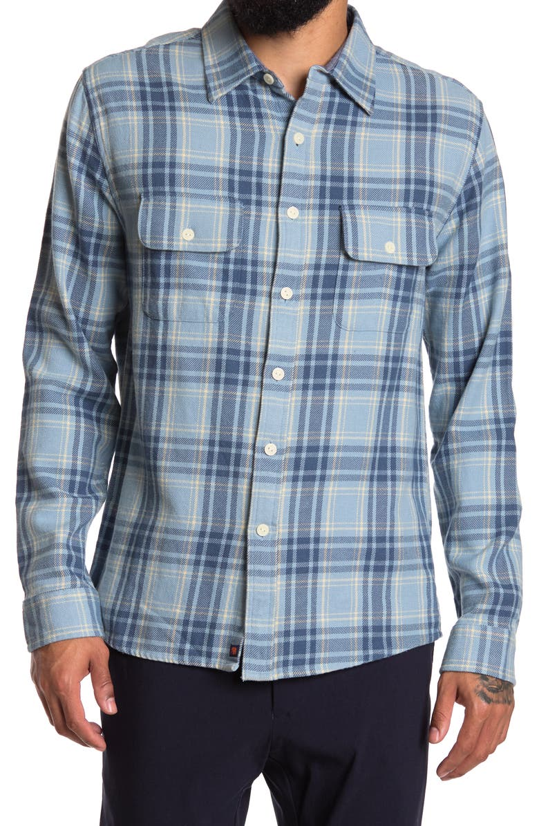 THE NORMAL BRAND Mountain Regular Fit Flannel Shirt, Main, color, BLUE PLAID