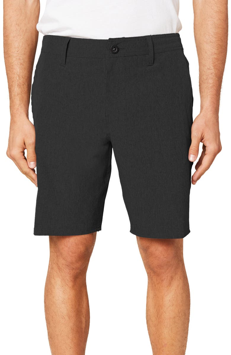 O'NEILL Reserve Heather Hybrid Water Resistant Swim Shorts, Main, color, BLACK