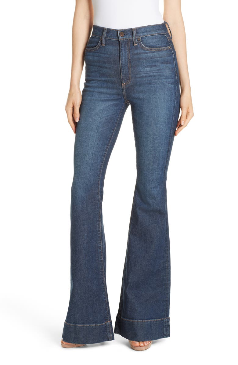 ALICE + OLIVIA JEANS Beautiful High Waist Bell Bottom Jeans, Main, color, 424