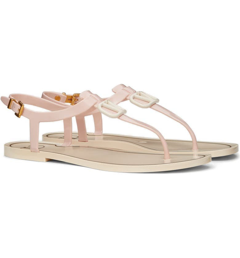 VALENTINO GARAVANI VLOGO Sandal, Main, color, ROSE QUARTZ-LIGHT IVORY