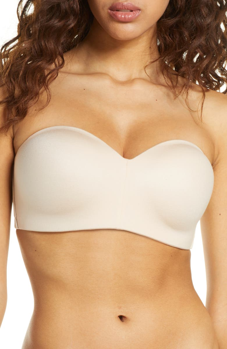 WACOAL Staying Power Wire Free Convertible Strapless Bra, Main, color, SAND