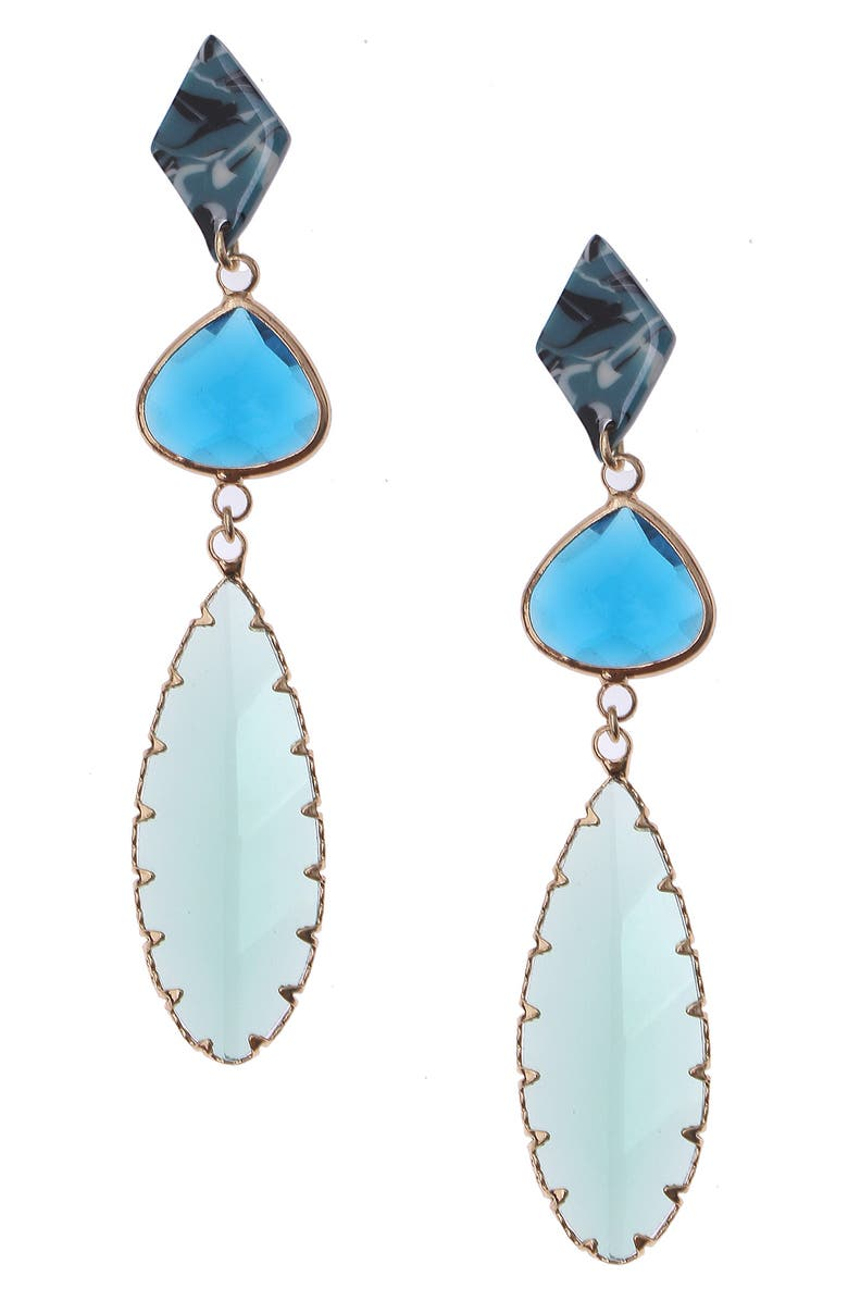 NAKAMOL CHICAGO Glass Drop Earrings, Main, color, 400