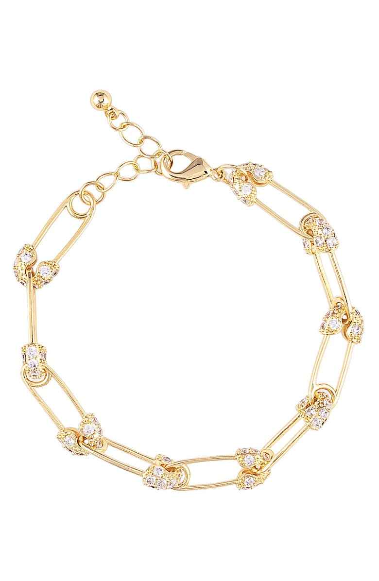 UNCOMMON JAMES BY KRISTIN CAVALLARI Safety First Link Bracelet, Main, color, Gold