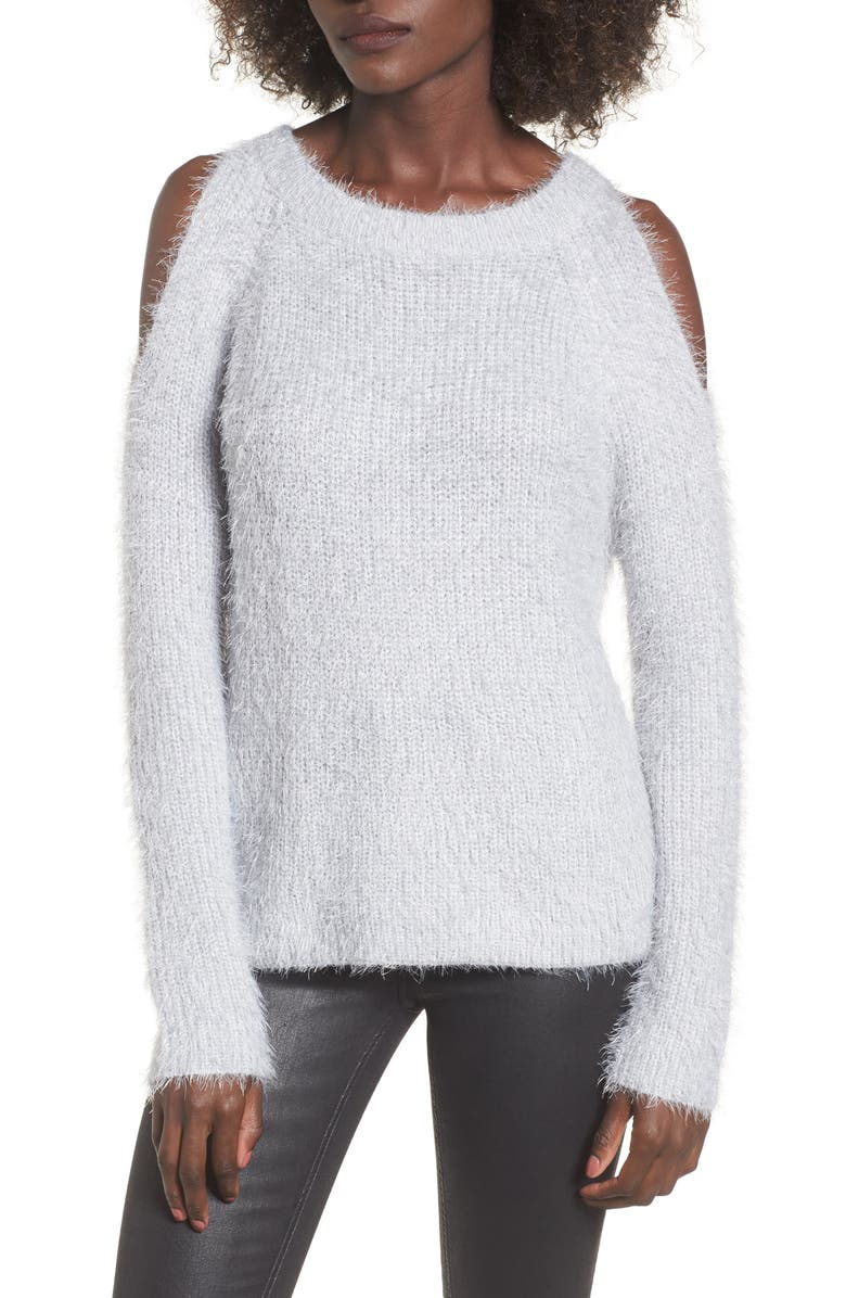 WOVEN HEART Cold Shoulder Sweater, Main, color, 020