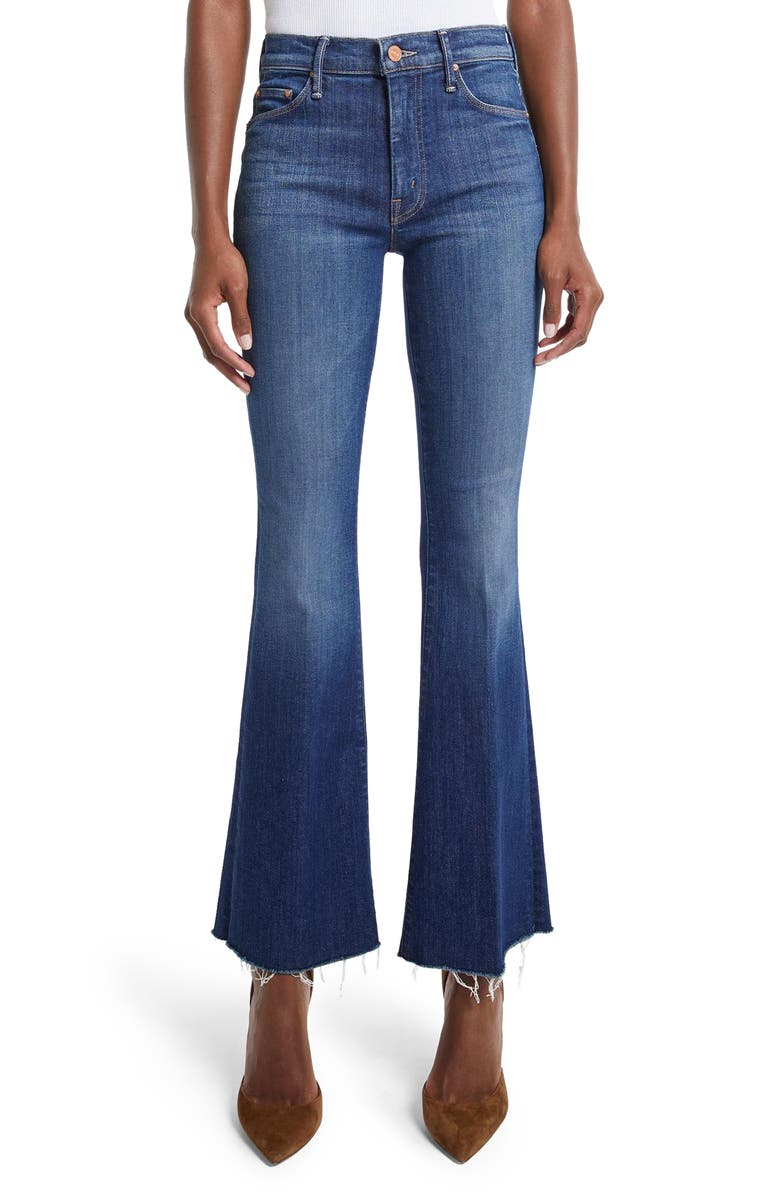 MOTHER High Waist Frayed Flare Jeans, Main, color, 420