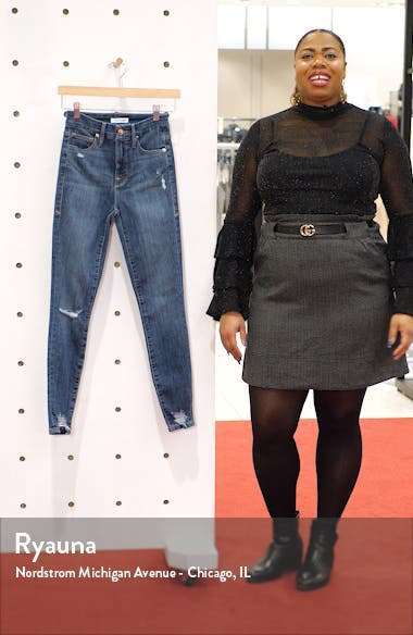 Good Waist High Waist Chewed Hem Skinny Jeans, sales video thumbnail