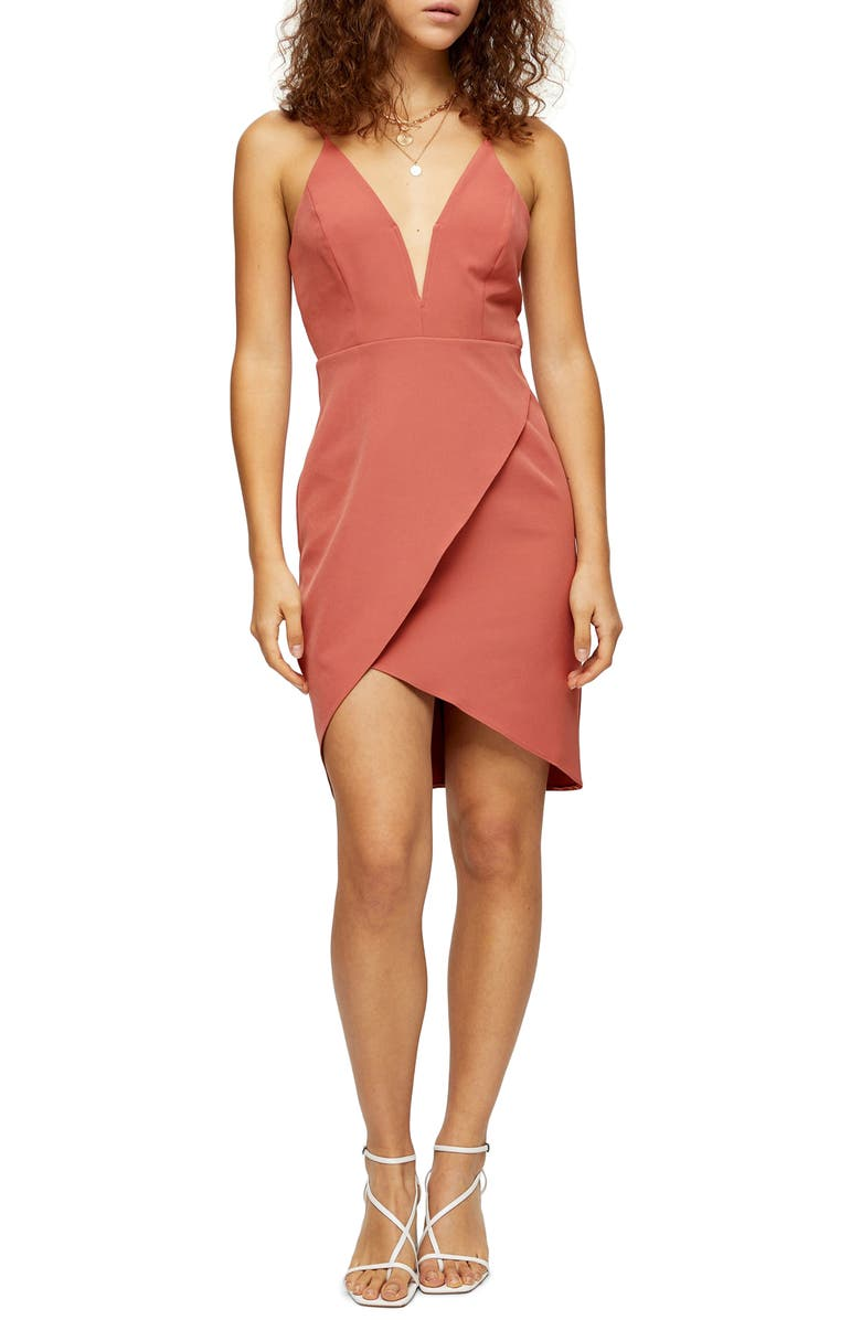 TOPSHOP Plunge Slipdress, Main, color, 250