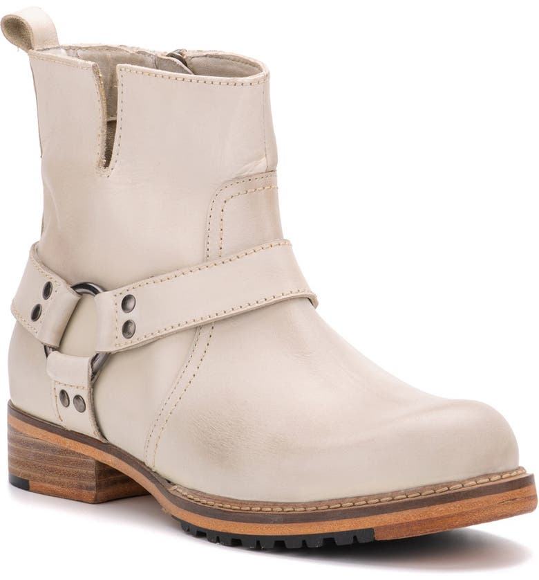 VINTAGE FOUNDRY Morgan Biker Boot, Main, color, OFF WHITE
