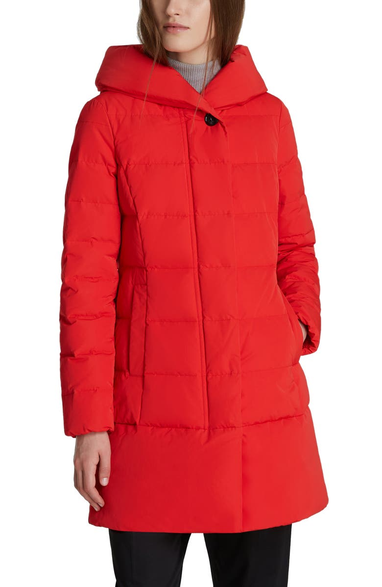 WOOLRICH Puffy Prescott 800 Fill Power Down Coat, Main, color, MARINE SCARLET