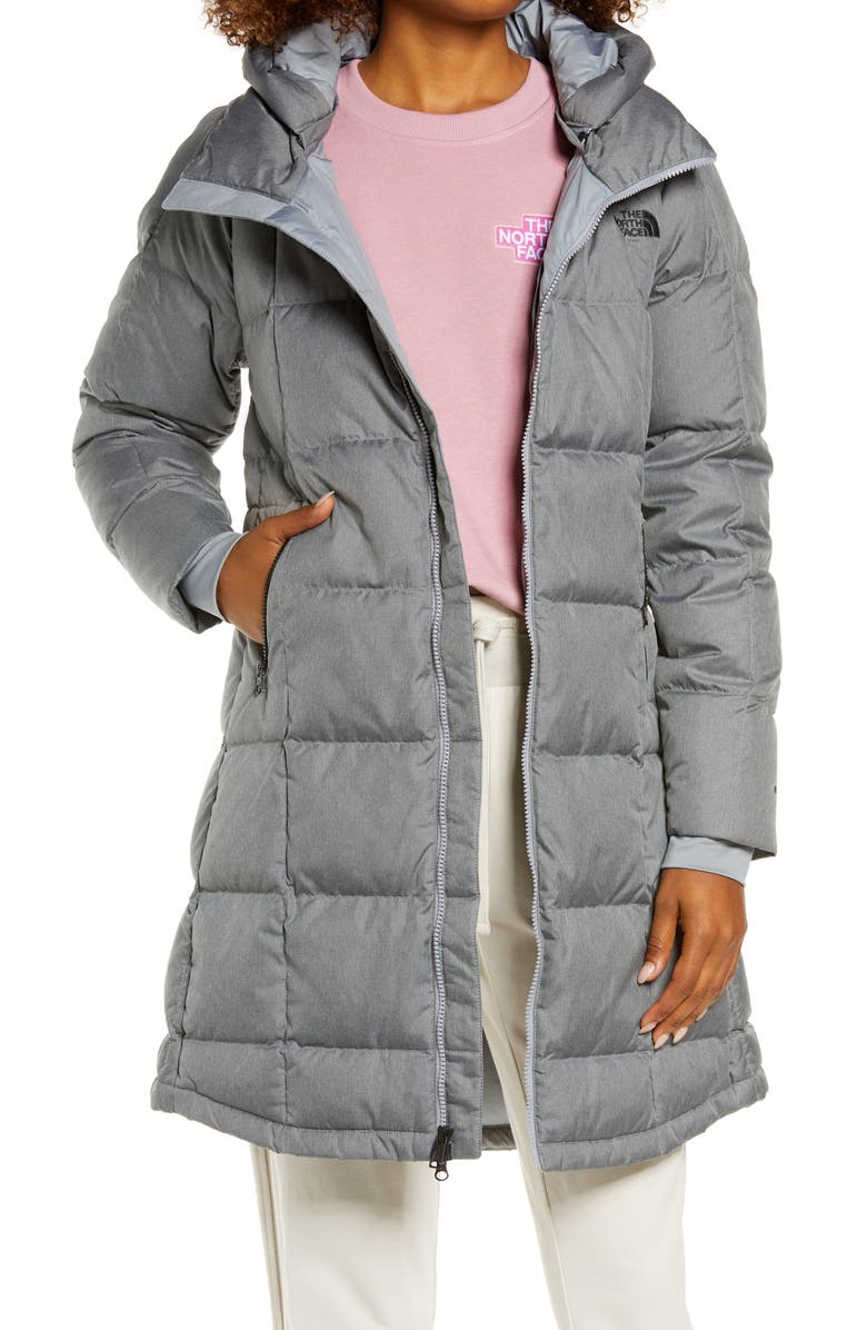 THE NORTH FACE Acropolis Water Repellent 550 Fill Power Down Parka, Main, color, TNF MEDIUM