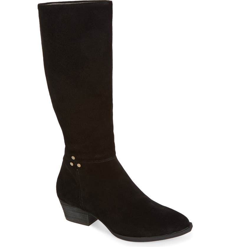 BAND OF GYPSIES Larkspur Knee High Boot, Main, color, BLACK SUEDE