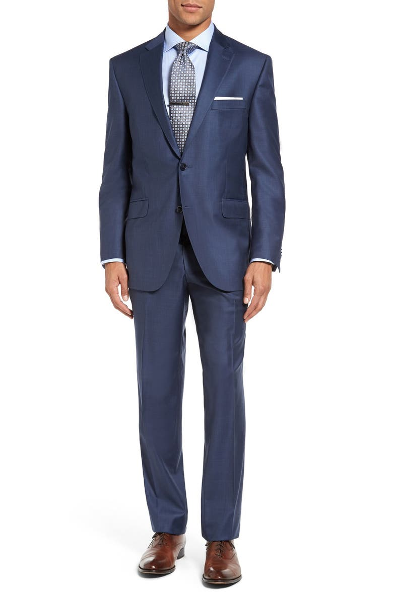 PETER MILLAR Flynn Classic Fit Wool Suit, Main, color, BLUE