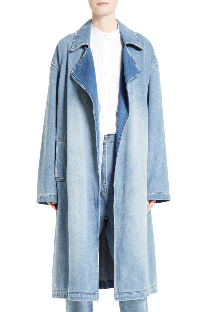 ROBERT RODRIGUEZ Denim Trench Coat, Main, color, 420