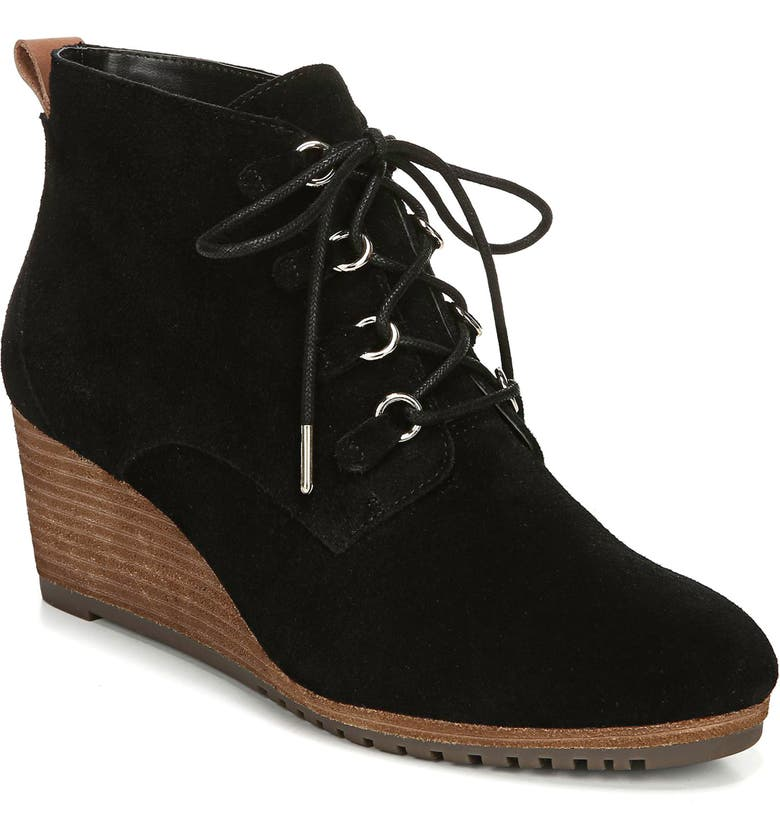 DR. SCHOLL'S Come on Over Wedge Bootie, Main, color, 001
