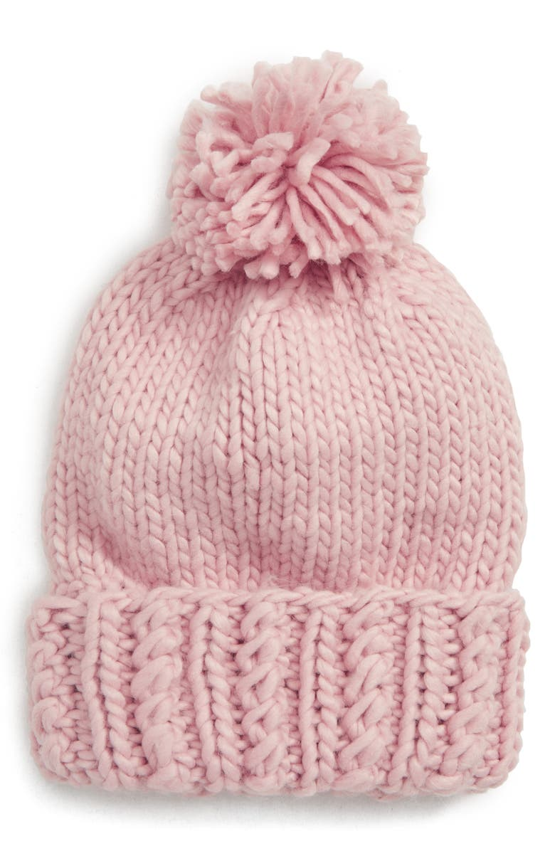 BP. Chunky Knit Pompom Beanie, Main, color, 650
