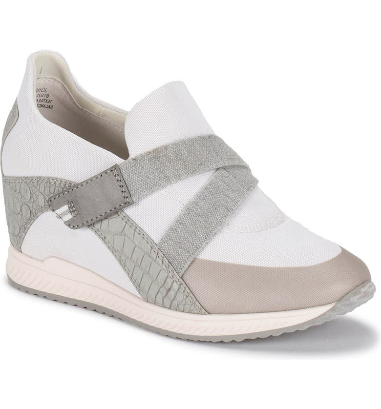 BARETRAPS Johanna Casual Wedge Sneaker - Wide Width Available, Main, color, WHITE