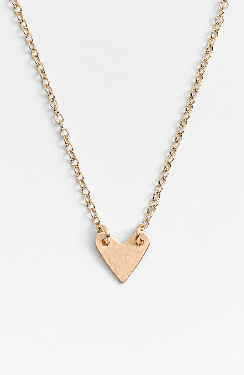 NASHELLE Heart Necklace, Main, color, 14K GOLD FILL