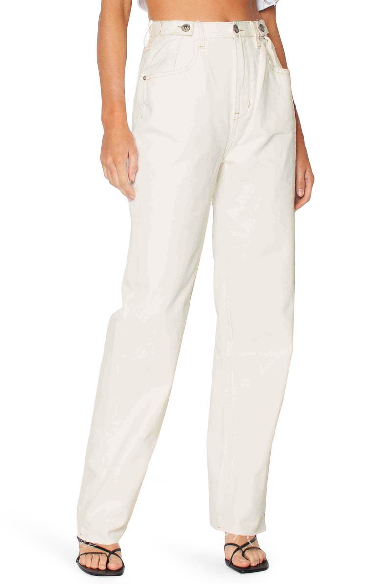 ZIGGY DENIM Hi And Loose Relaxed Jeans, Main, color, COCONUT