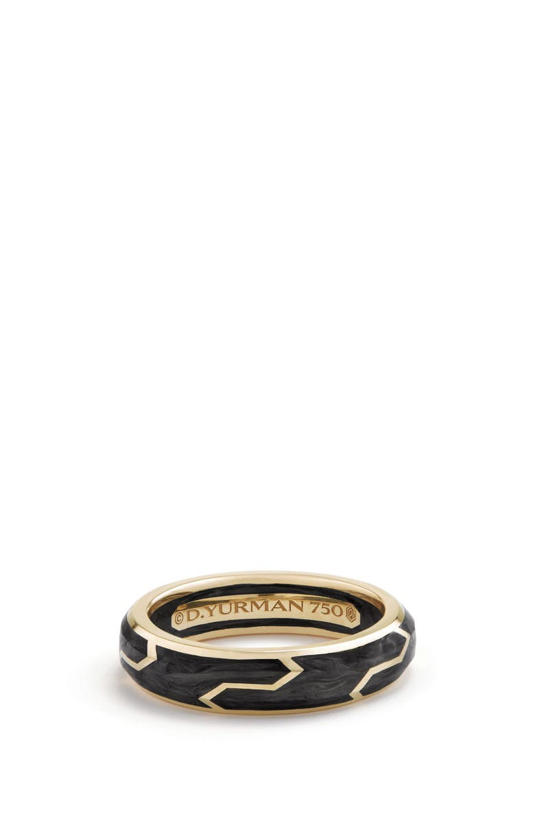 DAVID YURMAN Forged Carbon Band Ring in 18K Gold, 6mm, Main, color, FORGED CARBON