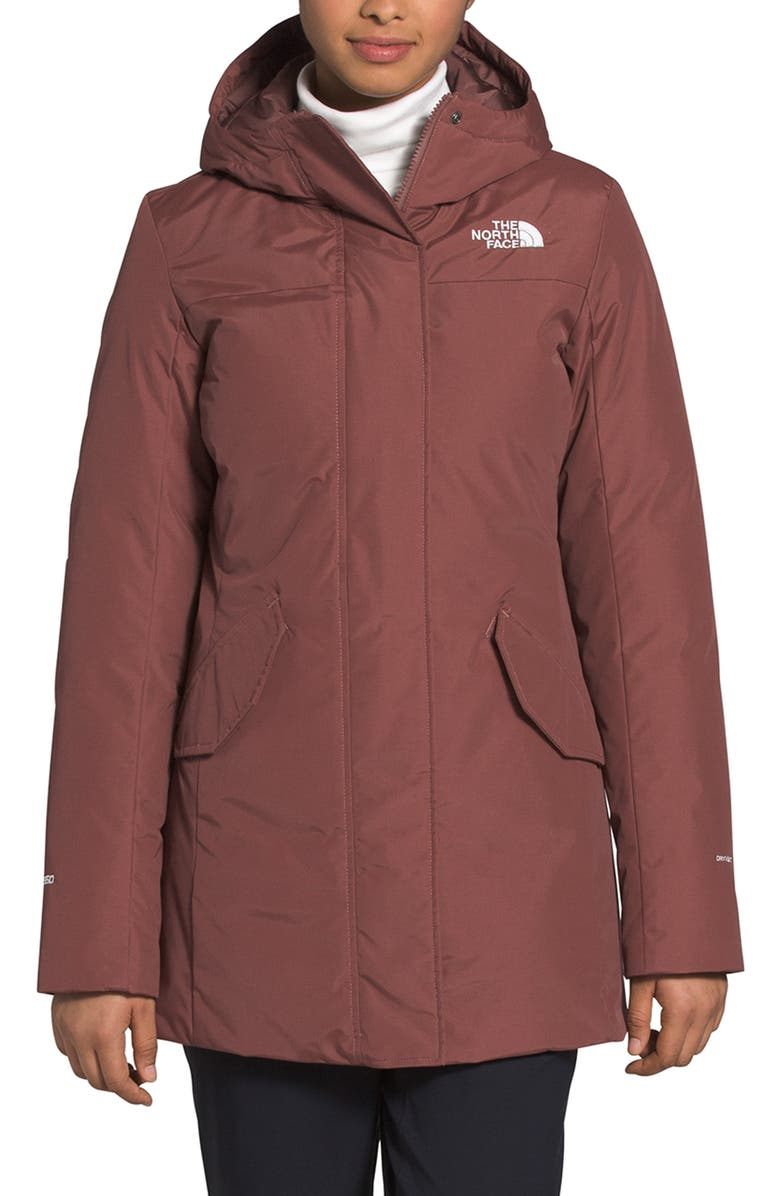 THE NORTH FACE Pilson Waterproof 550 Fill Power Down Parka, Main, color, MARRON PURPLE