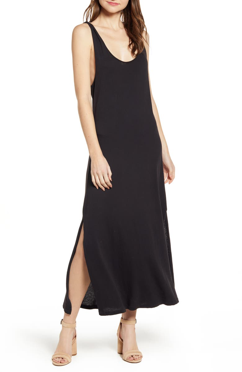 CURRENT/ELLIOTT The Twisted Maxi Dress, Main, color, 001